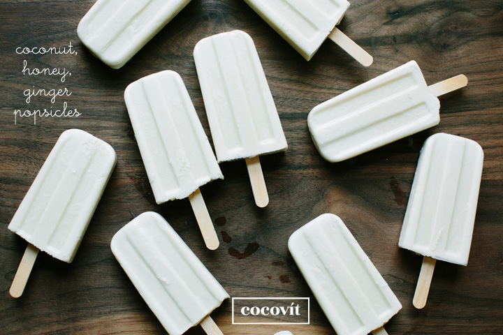 Coconut, Honey Popsicles