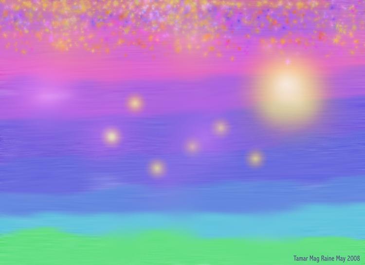 Foggy Dream of a Seacoast Sunset