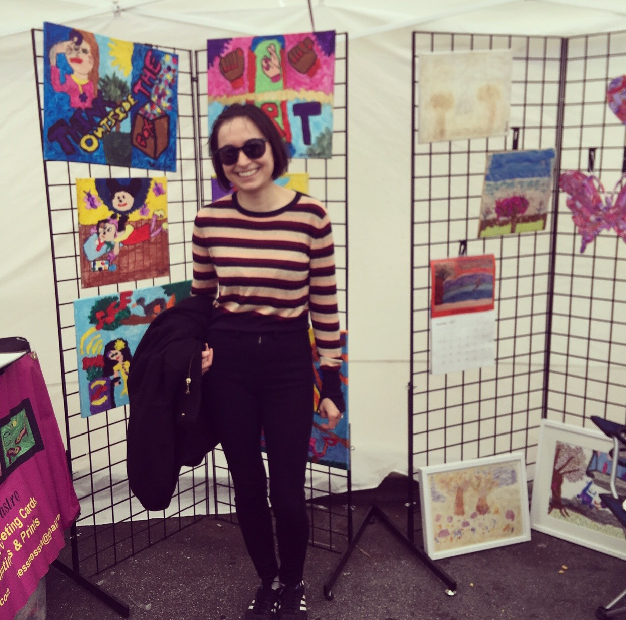 Bay area artist Galine Tumasyan stopped by to check out our booth!