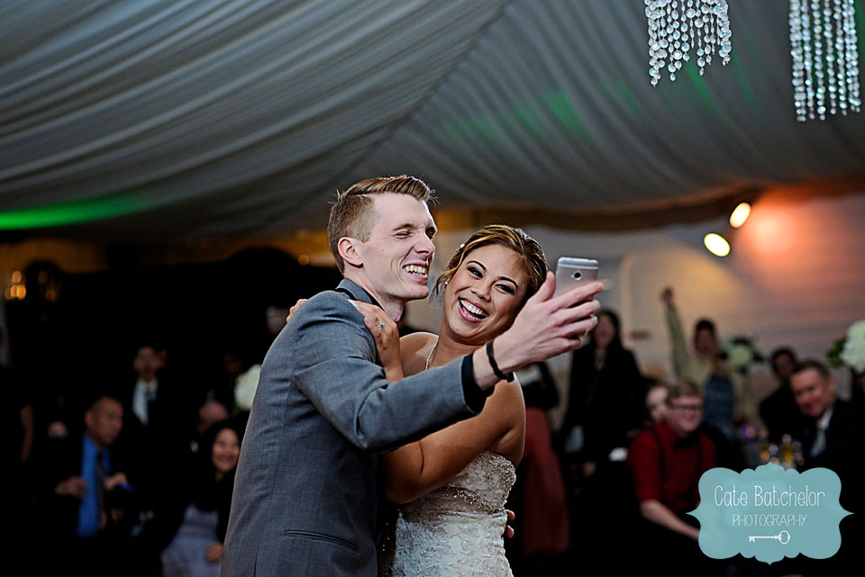 First dance, but wait....let me take a selfie!