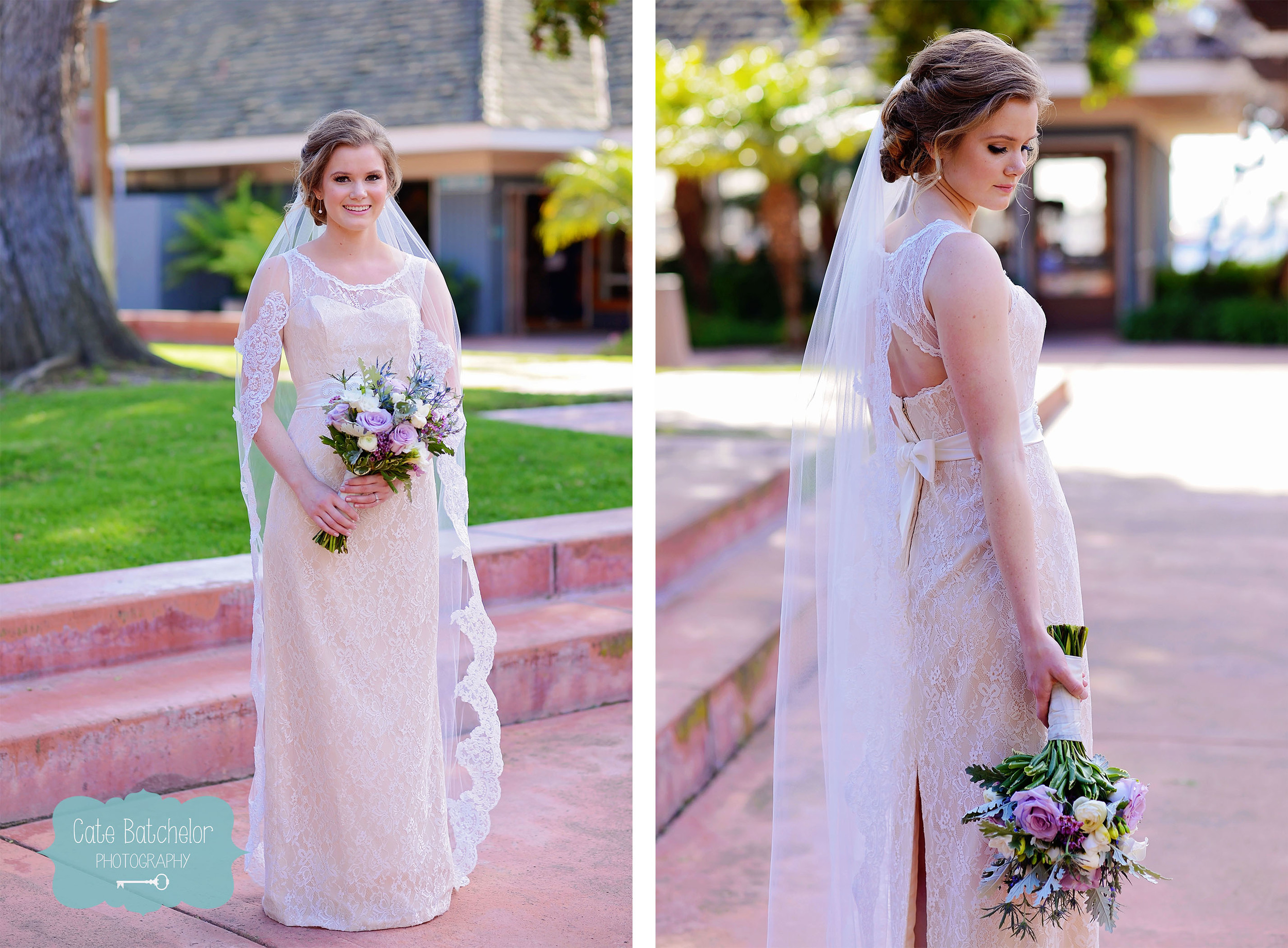 Leslie looking stunning before the ceremony.