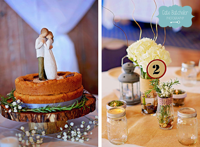 "They had a peanut buttery-chocolate cookie ""cake."" SO GOOD."