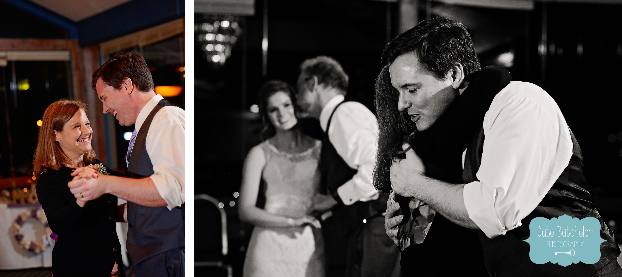 Andrew and his mom joined the dance as well.