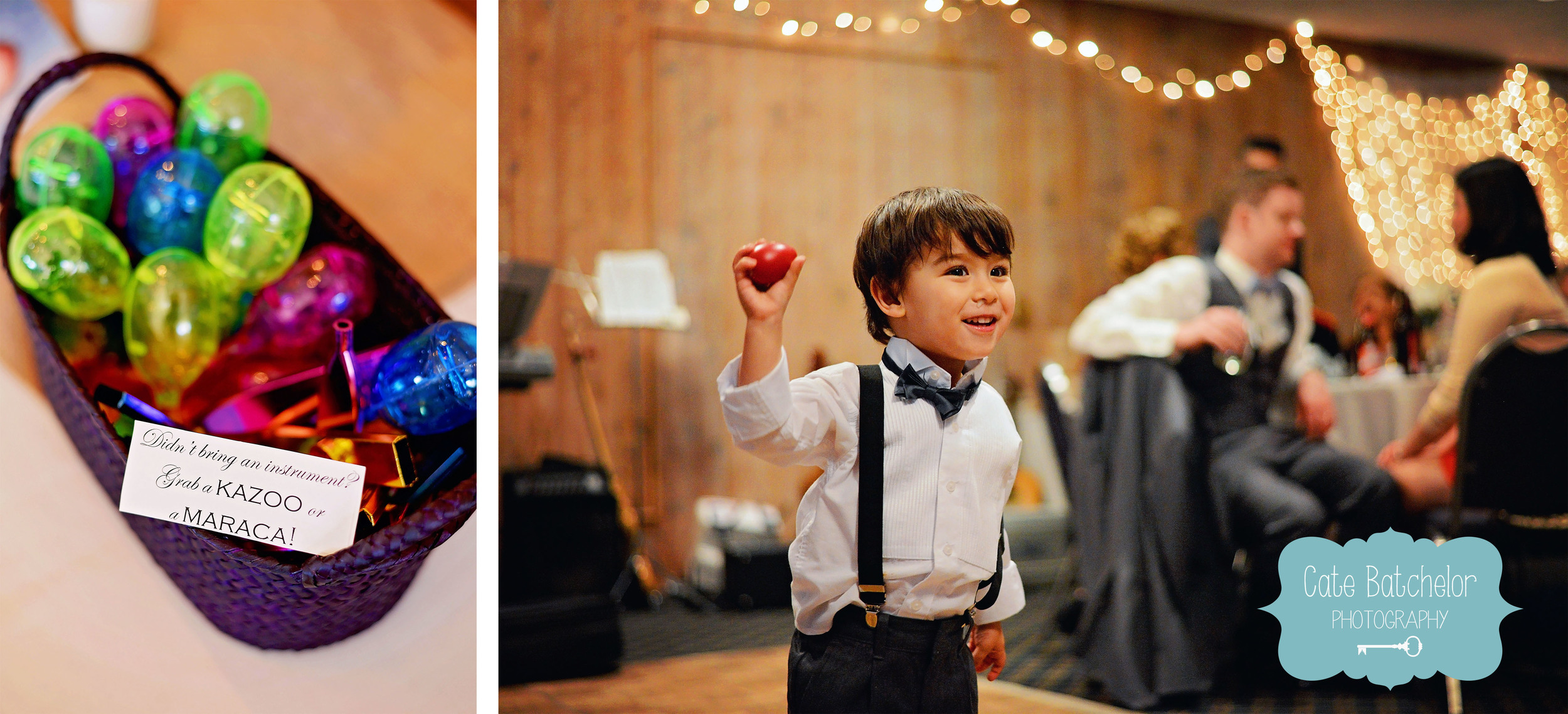 Music plays a large role in their relationship, so they had friends and family play their first dance song. Guests were encouraged to play along as well!