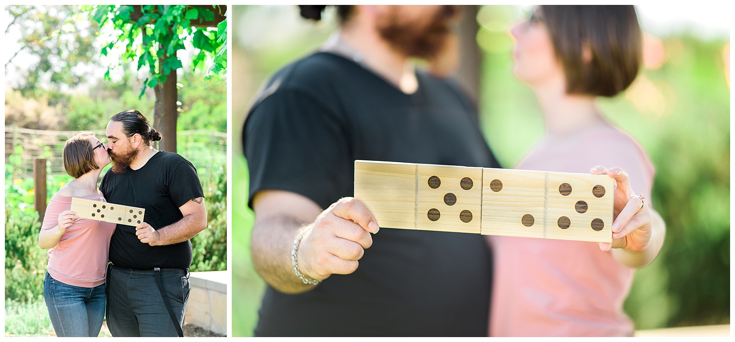How fun are these giant wooden dominos?!