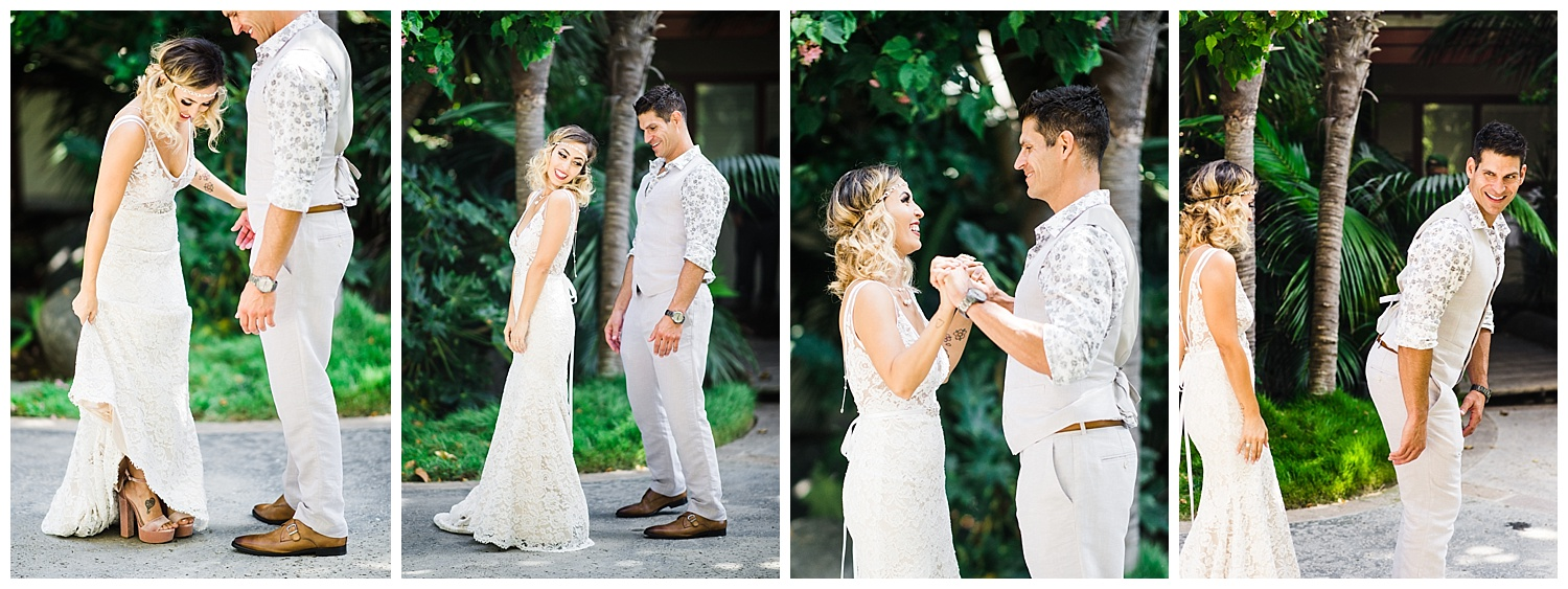 Heather and Ryan are #relationshipgoals. They have their priorities in order. Checking out each other's booties.