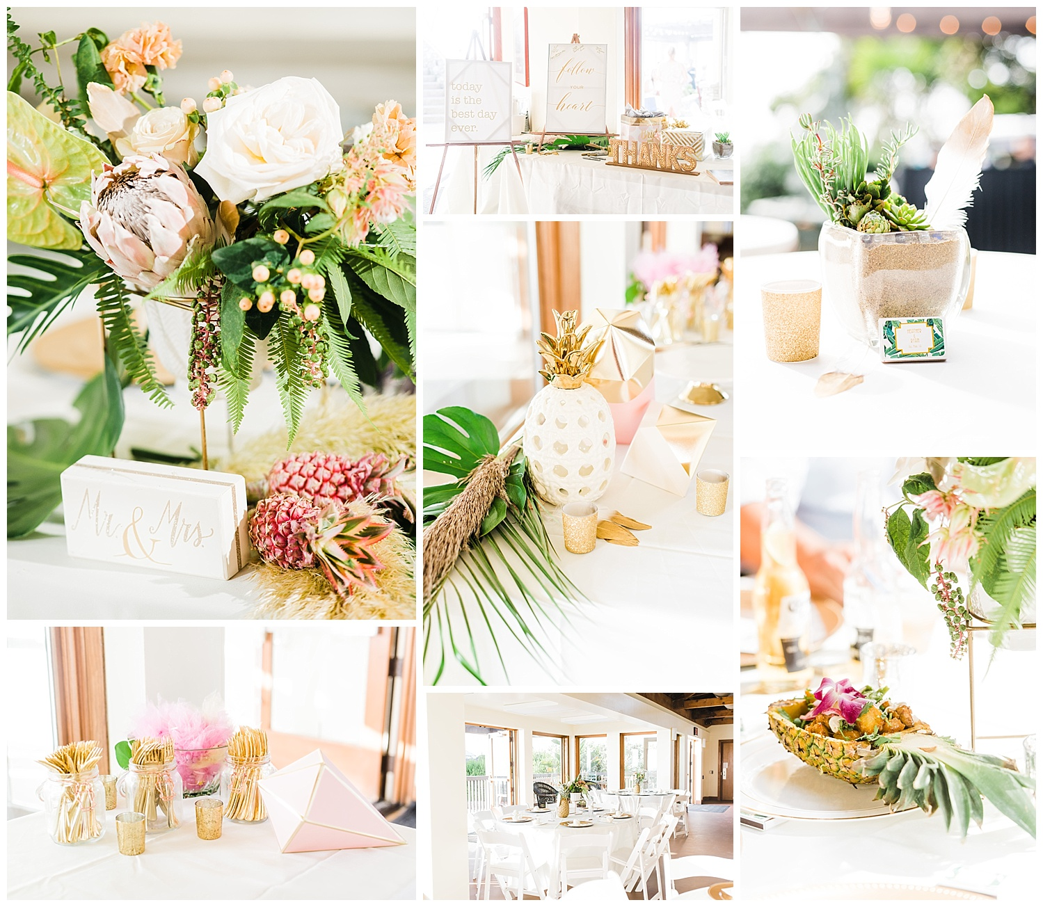The decor at their wedding was AH-mazing!