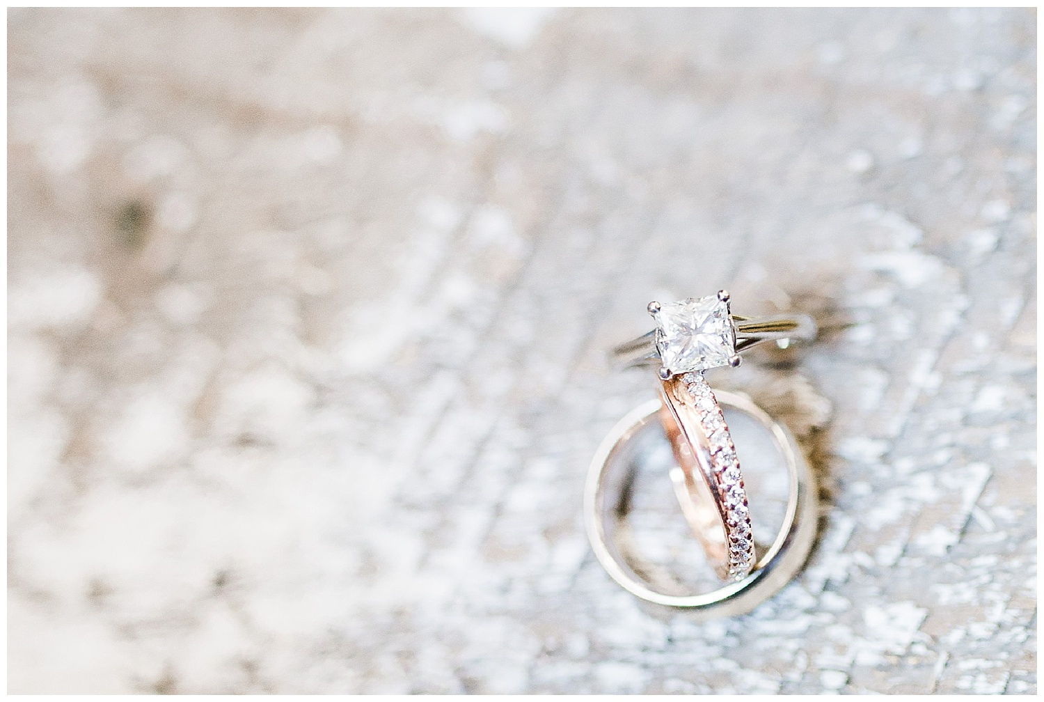 Rose gold wedding bands make my heart happy!