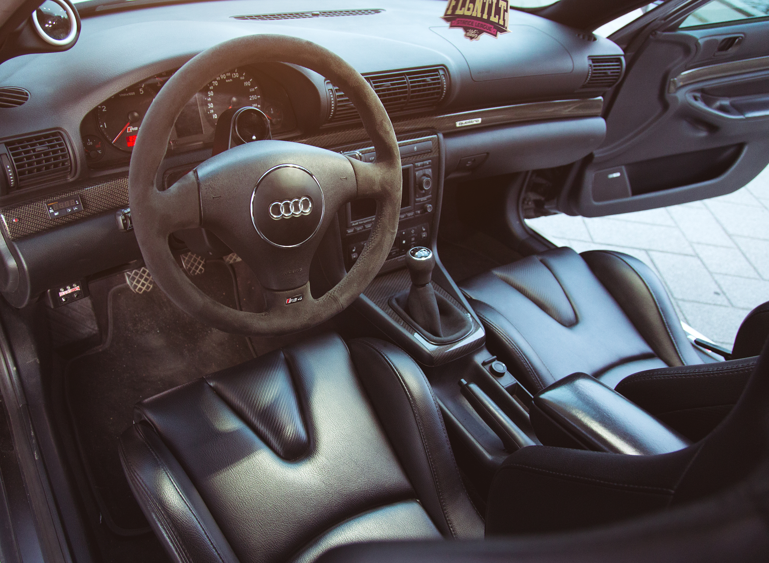 The cockpit is refined with performance and driveability in mind.