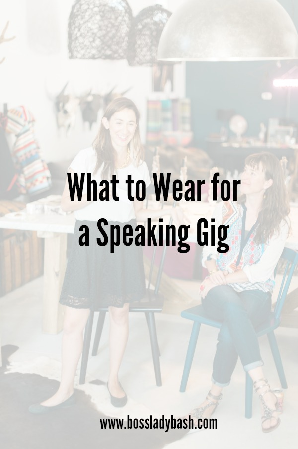 How to dress for all of the logistics of being a speaker at an event.