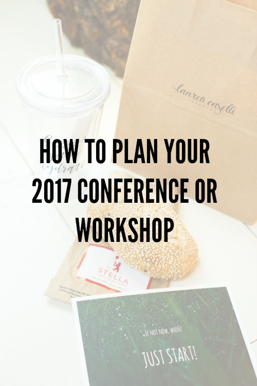 How to Plan Your 2017 Conference or Workshop