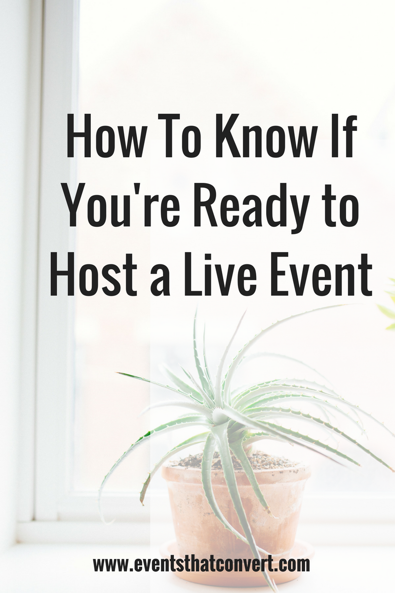 Are you thinking about hosting an event for your business? Watch this video to find out how you can tell.