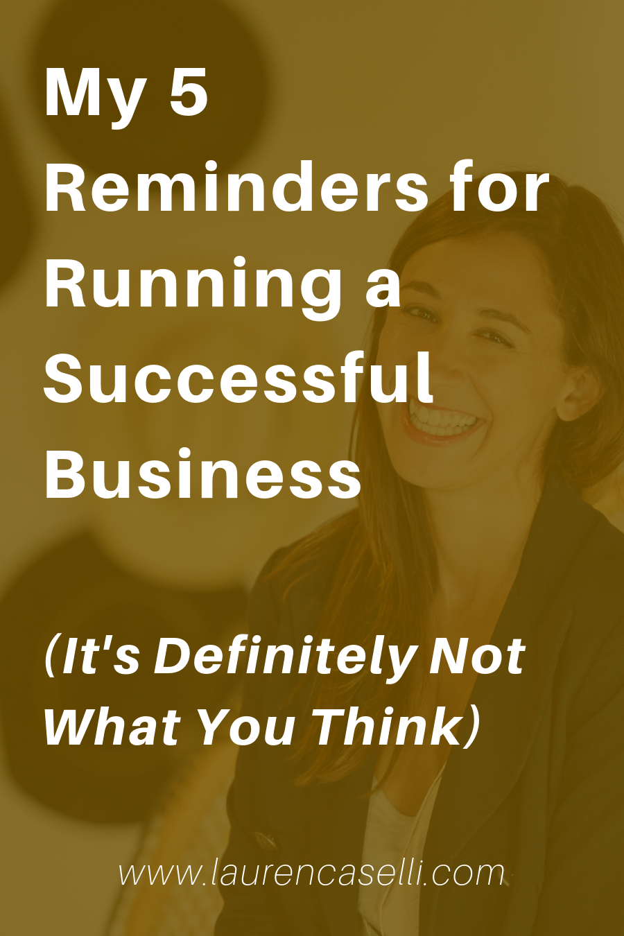The rules for running a successful business