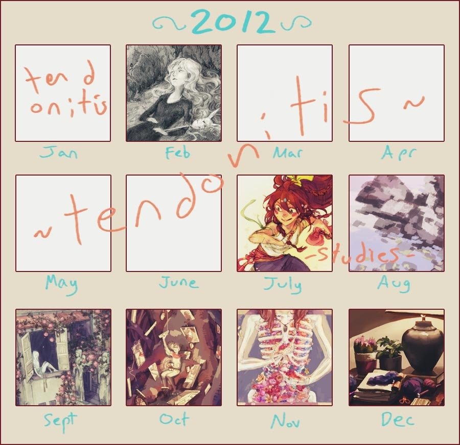 What a horrible art year, spent most of September and November messing around and not working at all too~~