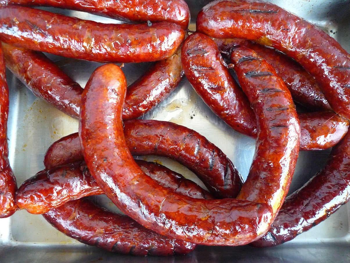 fig. b:  smoked cajun sausage