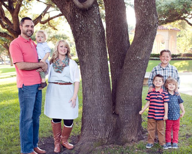 Pastor Stan and his wife, Lauren. Their boys, Noah, Colin, Andrew and Luke