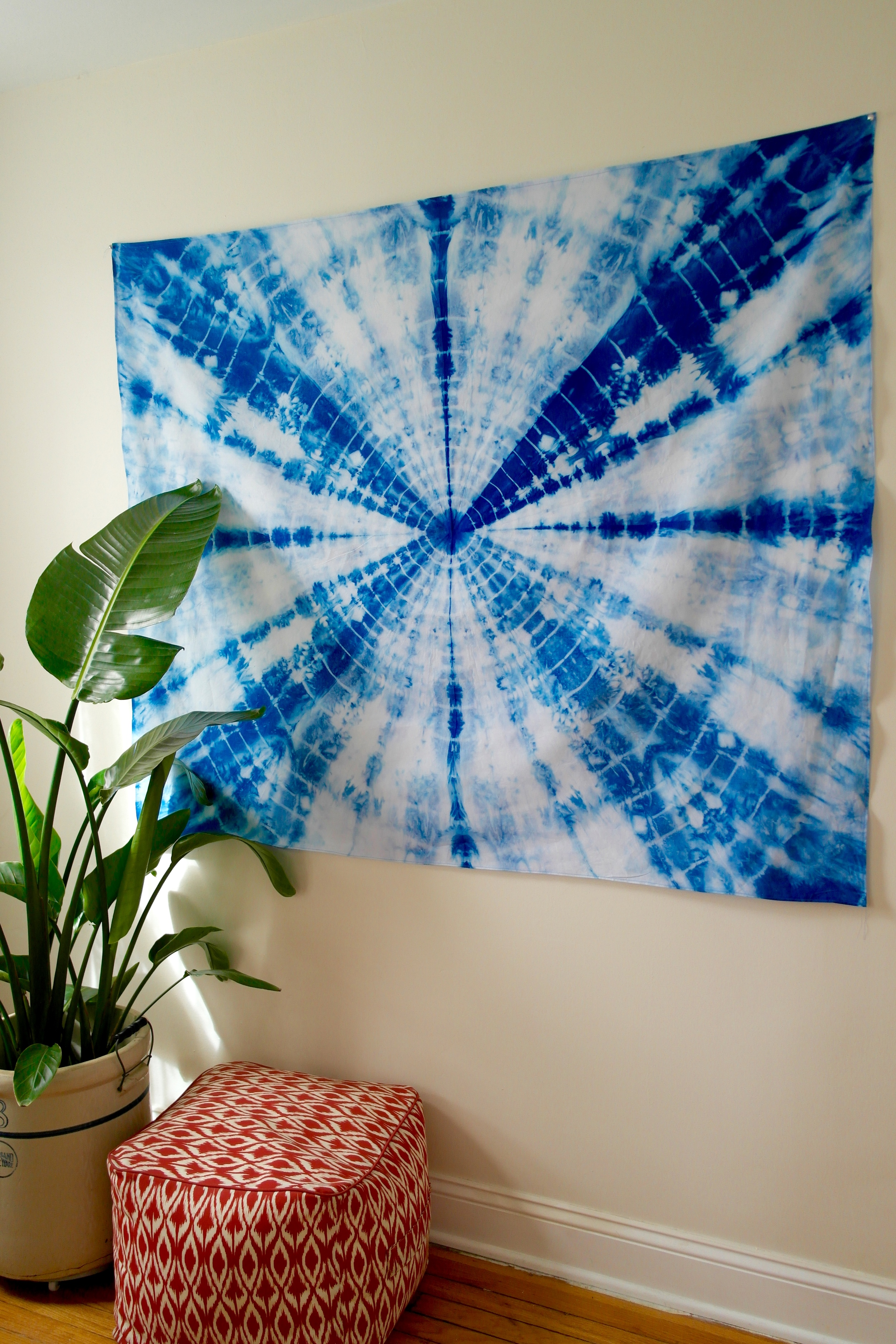 Indigo Dyed Wall Tapestry