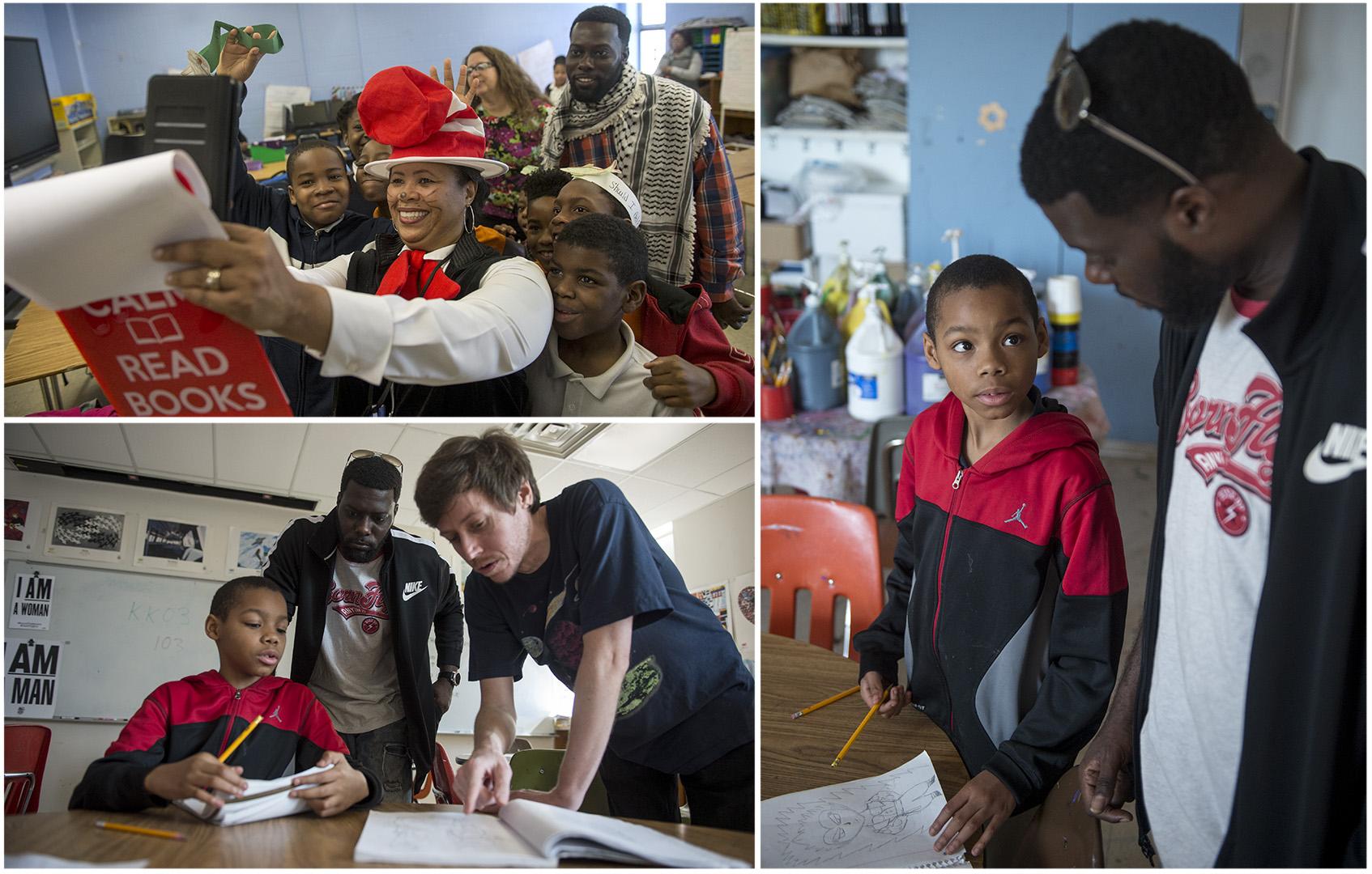 Art and literacy volunteer work in schools.