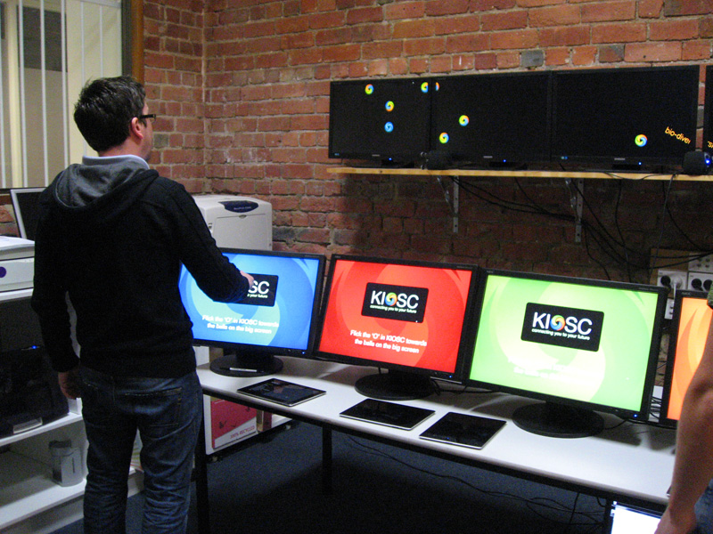 Testing consoles for KIOSC