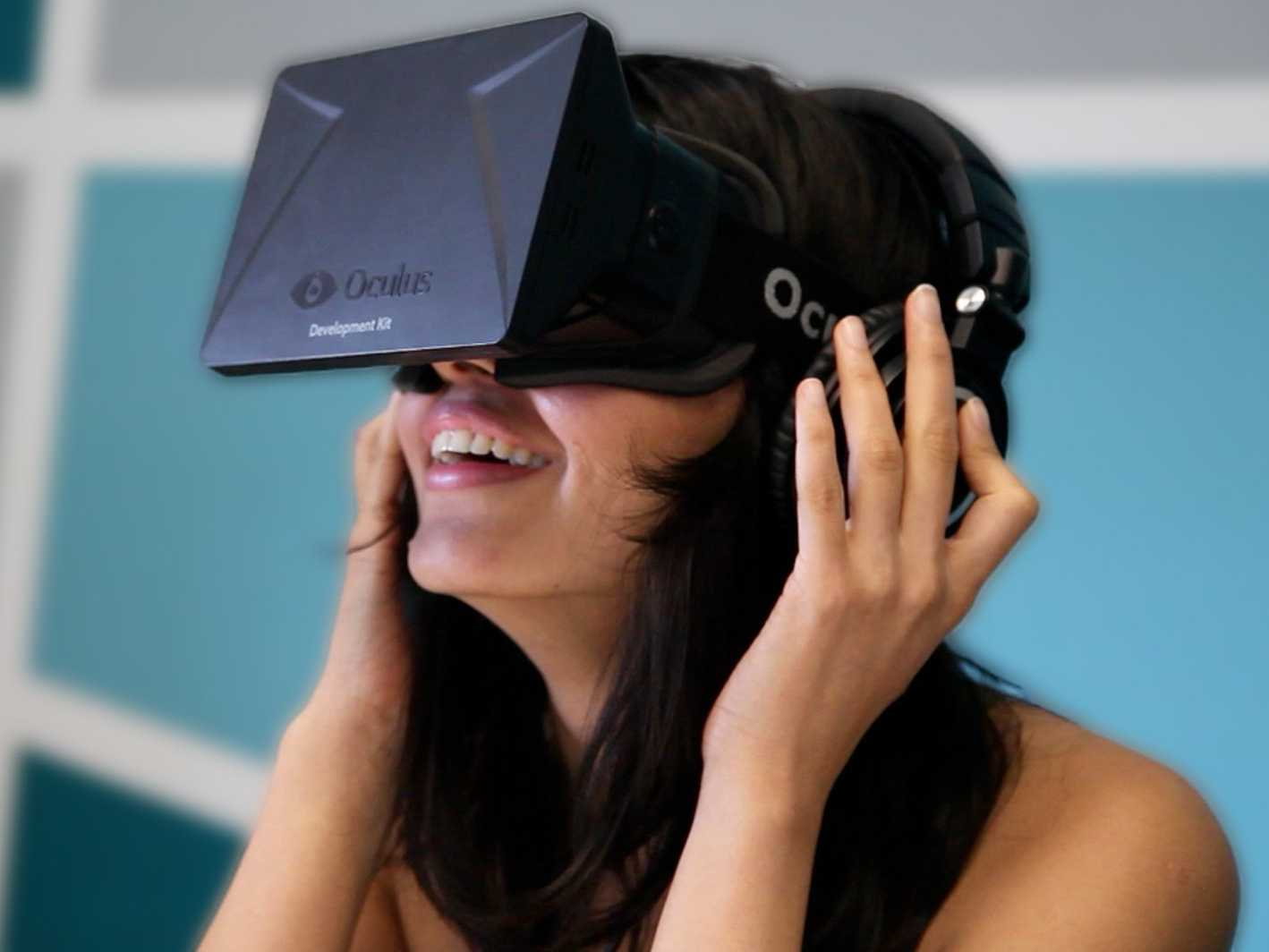 Oculus Rift: An example of a virtual reality headset.
