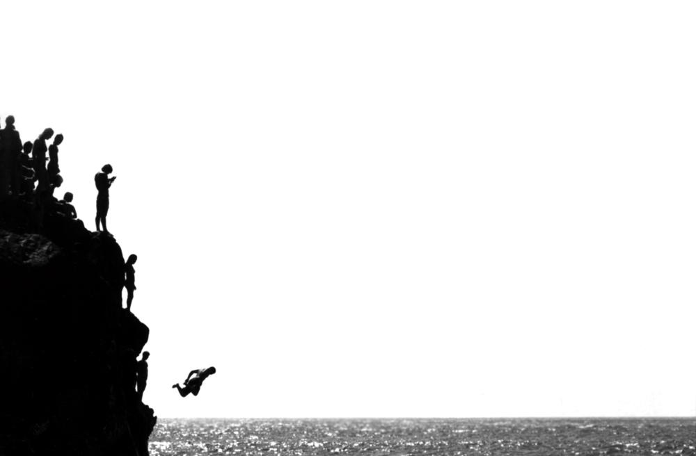 cliff jumper, waimea bay, 2007