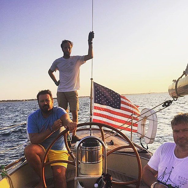 #tbt to yesterday, #mategallery owners @mattalbiani @brandnoo and an amazing sail with @chadhudnut @briansagerphoto #ack #nantucketsailing