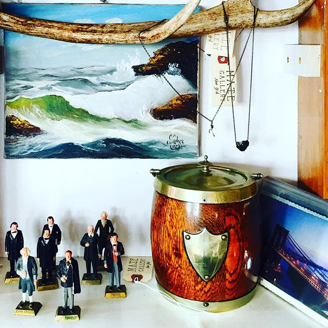 vintage presidential figurines, a small ice bucket, some cool nautical jewelry, now at #mategallery