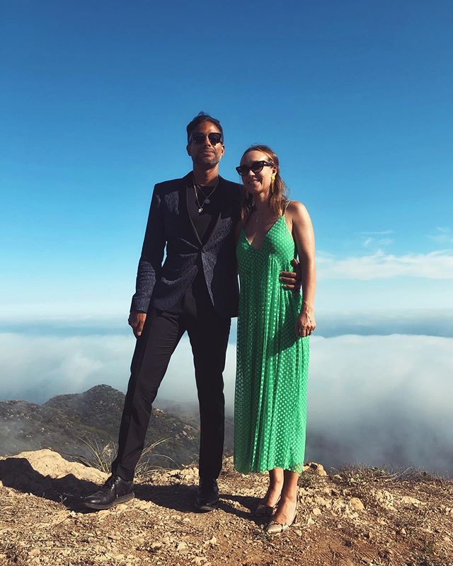 Magical wedding above the clouds in Malibu. 💙 @crystals_papi & @evasealove