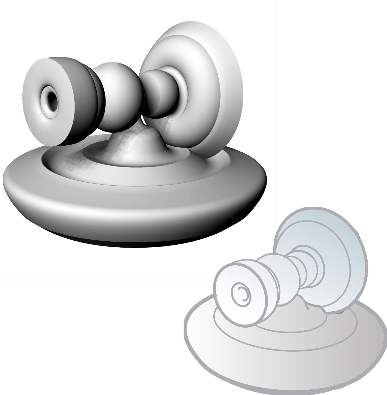 Warped model of child's toy.