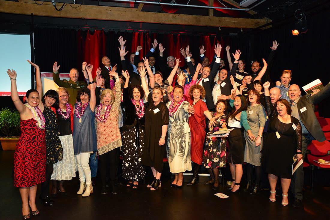 Our Leadership NZ 2015 cohort at the Graduation Ceremony! (Q Theatre, November 2015)  More Graduand biographies and reflections »
