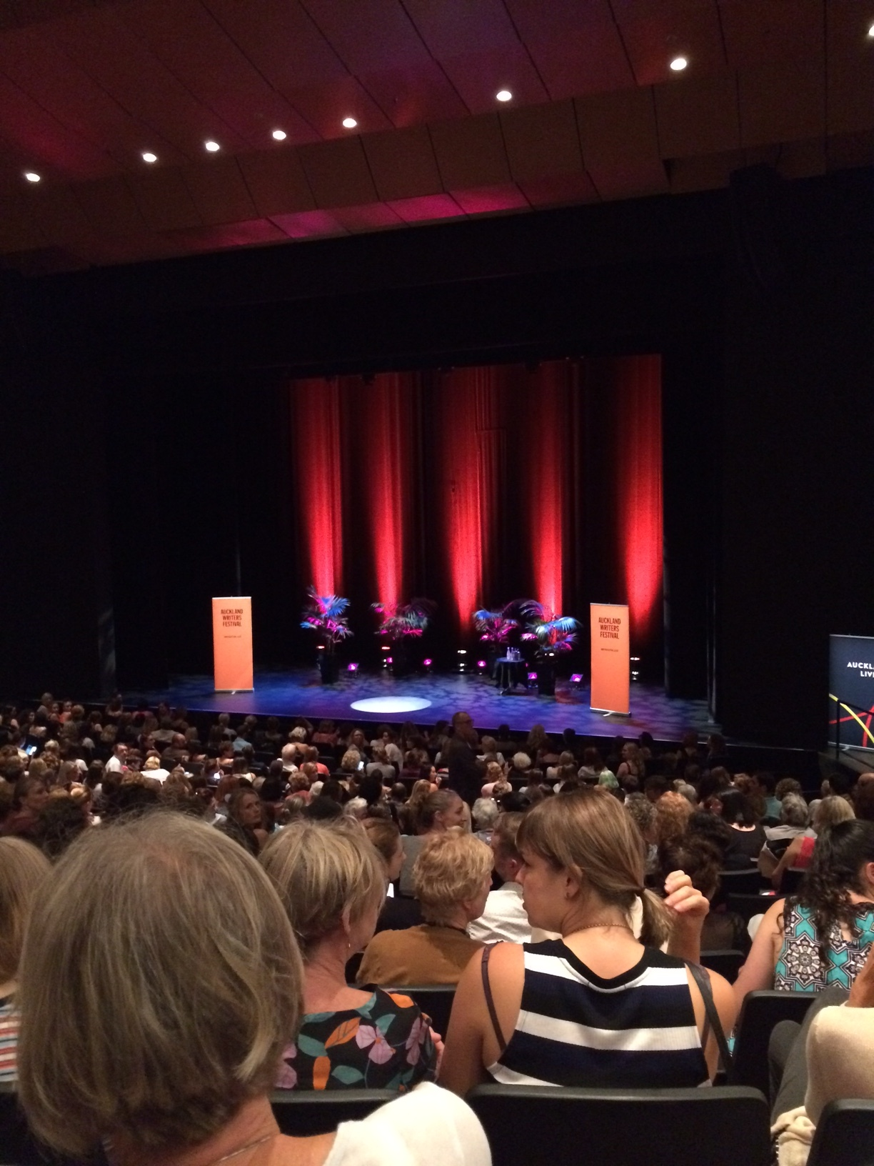 L-R: Bruce Mason Theatre was nearly packed