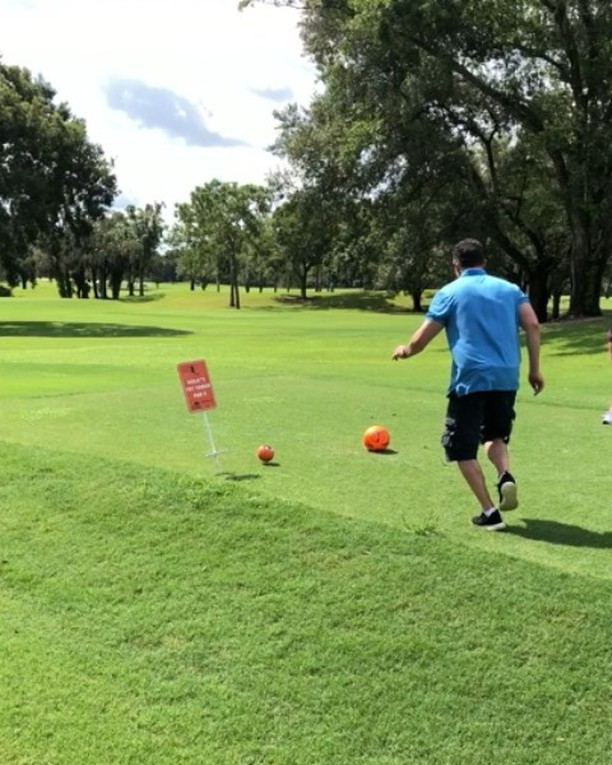#FootGolf with the family! I'm thinking about going pro.
