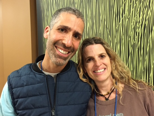 An added conference bonus--reconnecting with long-time Camp Ramah friend Elisa Heiligman-Recht!