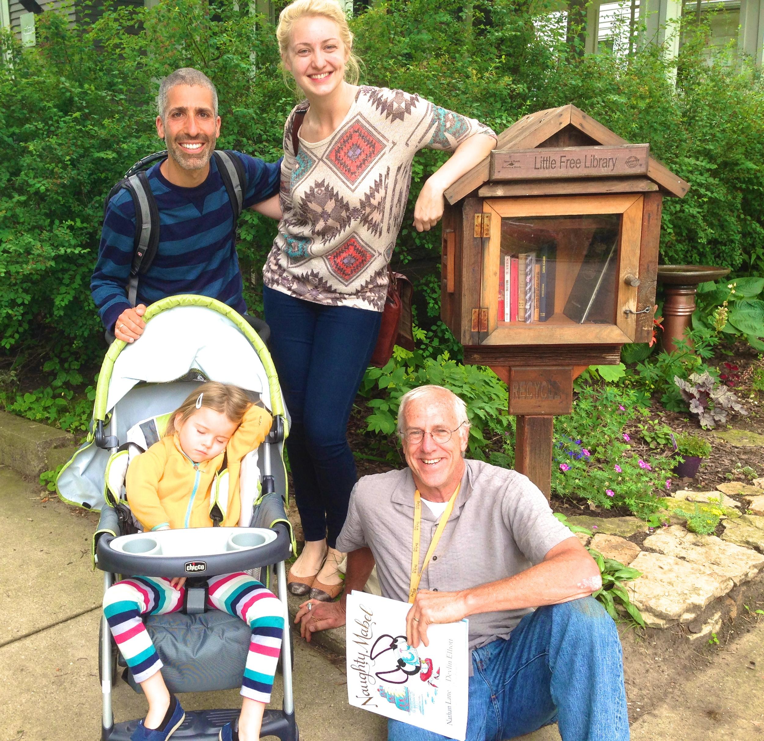 Rick Brooks, Megan Hanson, and a sleeping Aviva!