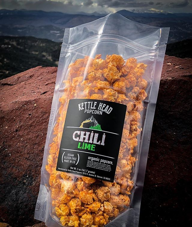 Chili Lime (for a limited time). Pick up a back at @bentbarleybrewing  this weekend, or order online! Kettleheadpopcorn.com