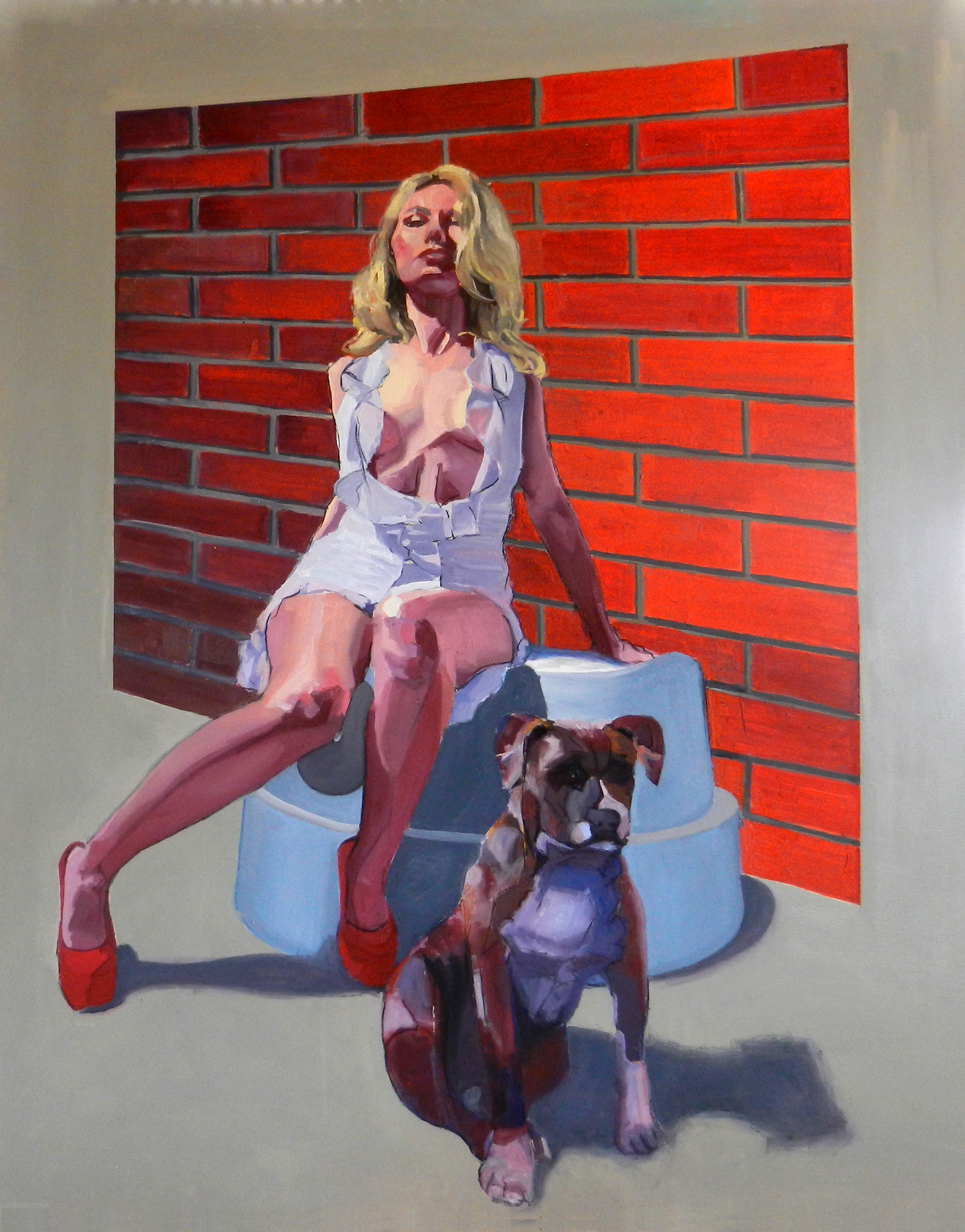 """Tough Love"" Oil on canvas 4' x 5'"