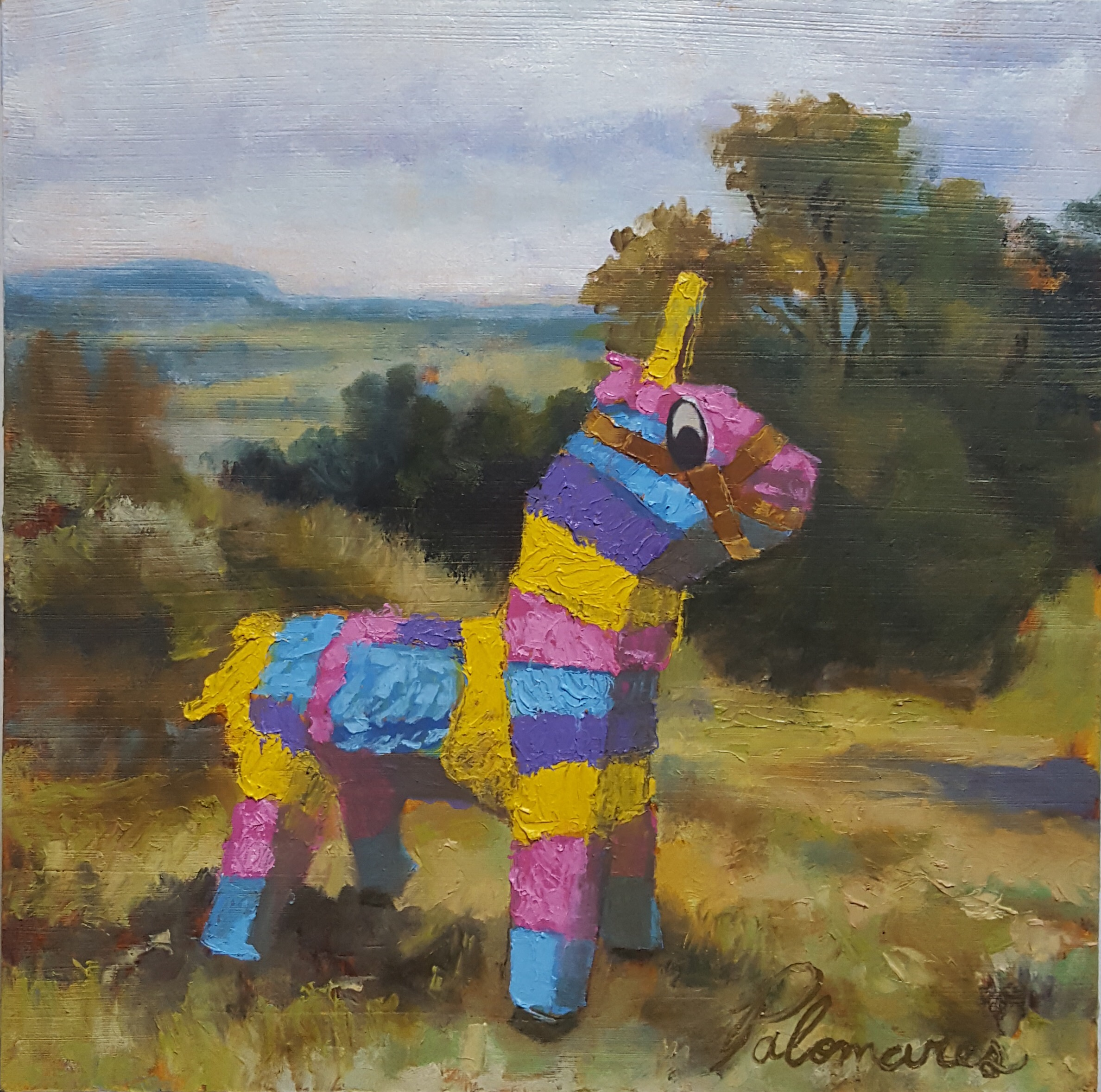 Piñata in English Landscape II