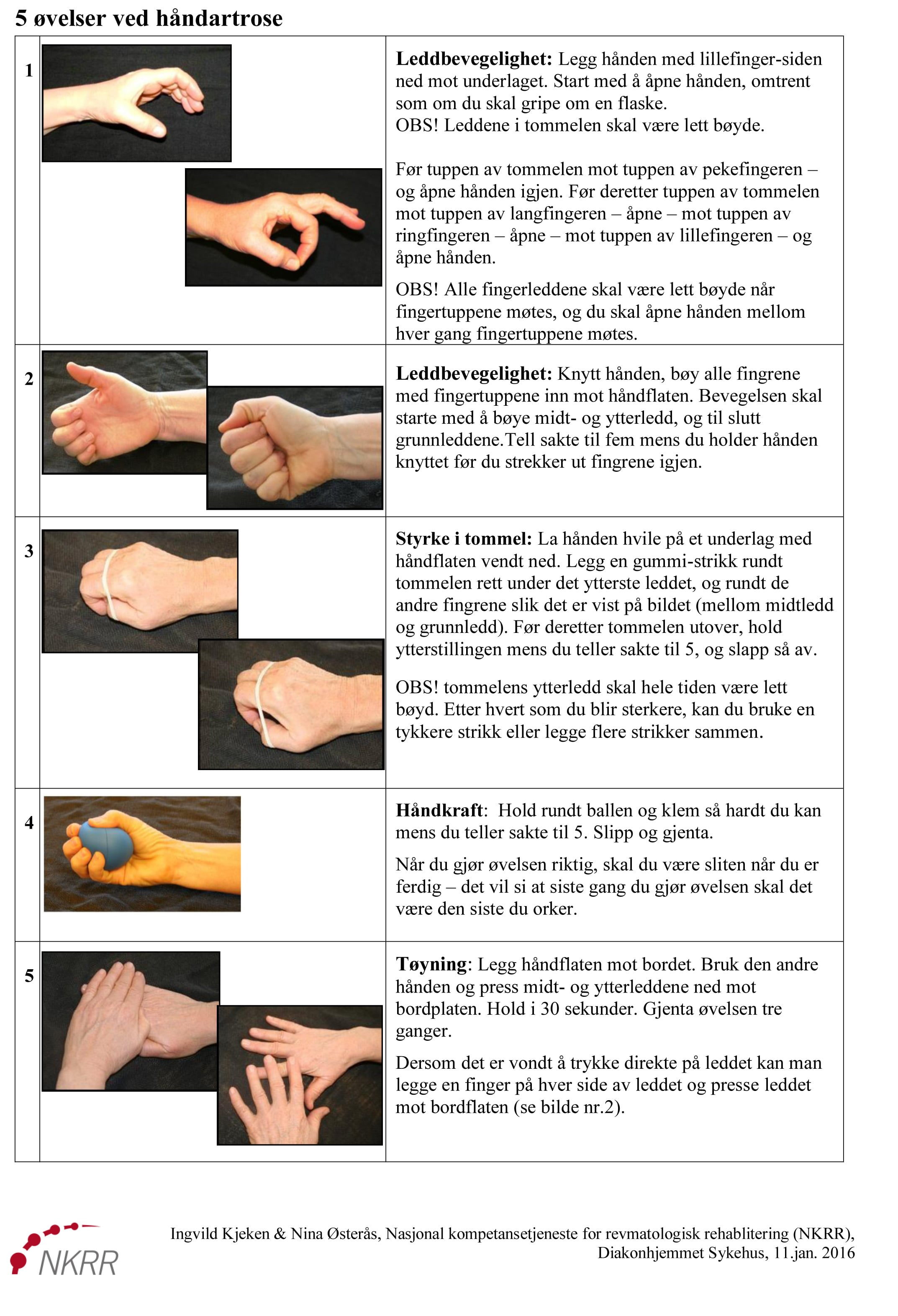 artrose trening hånd øvelser www.forskerlivet.no