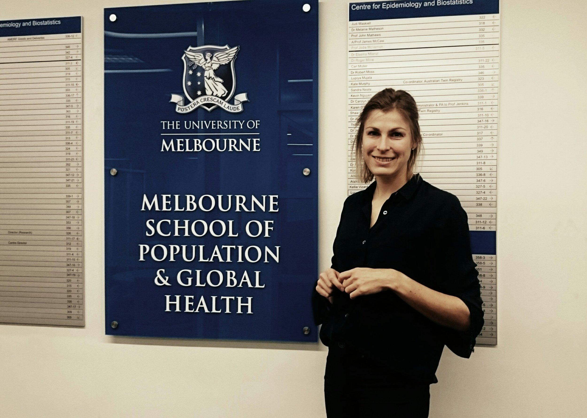 Forsker og fysioterapeut, Karin Magnusson, er på forskningsopphold i Australia, hvor hun fordyper seg i forskningsmetoder som anvendes i tvillingstudier.
