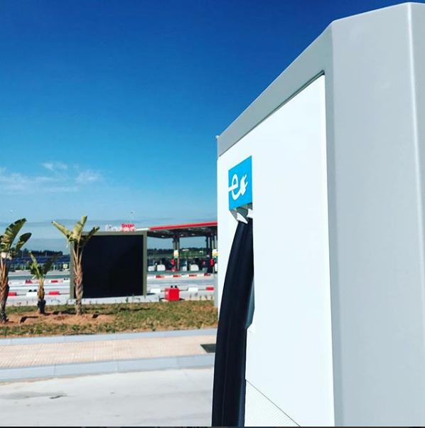 Econosol - Borne de recharge 50kW Total relai Bouregreg