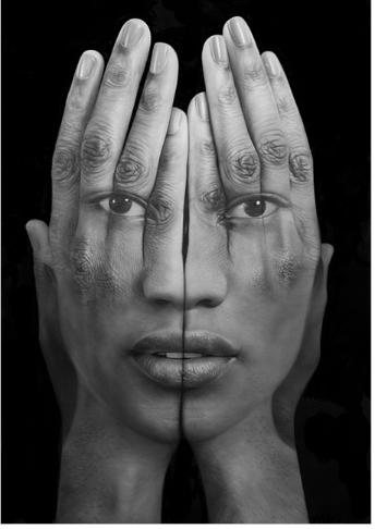 """Tigran Tsitoghdzyan       Mirror lll, 2013, oil on canvas 75"""" x 50"""""""