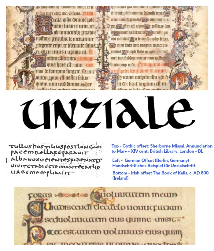 uncial examples collage
