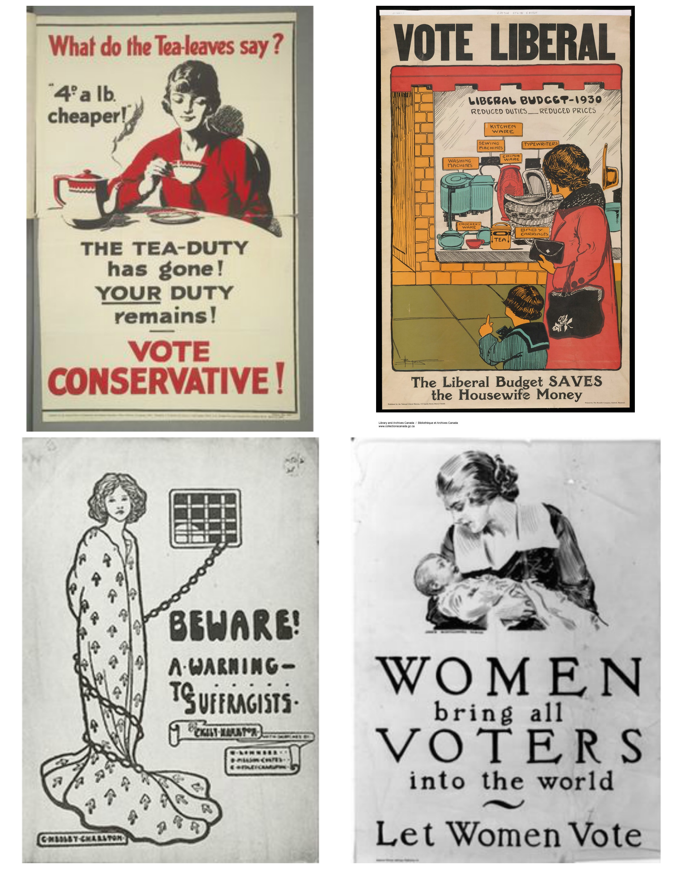 woman voters collage