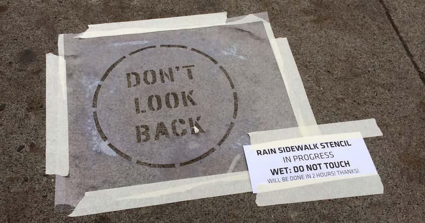 Example Sidewalk stencil. Source:NeverWet-Street-Art-Sencils