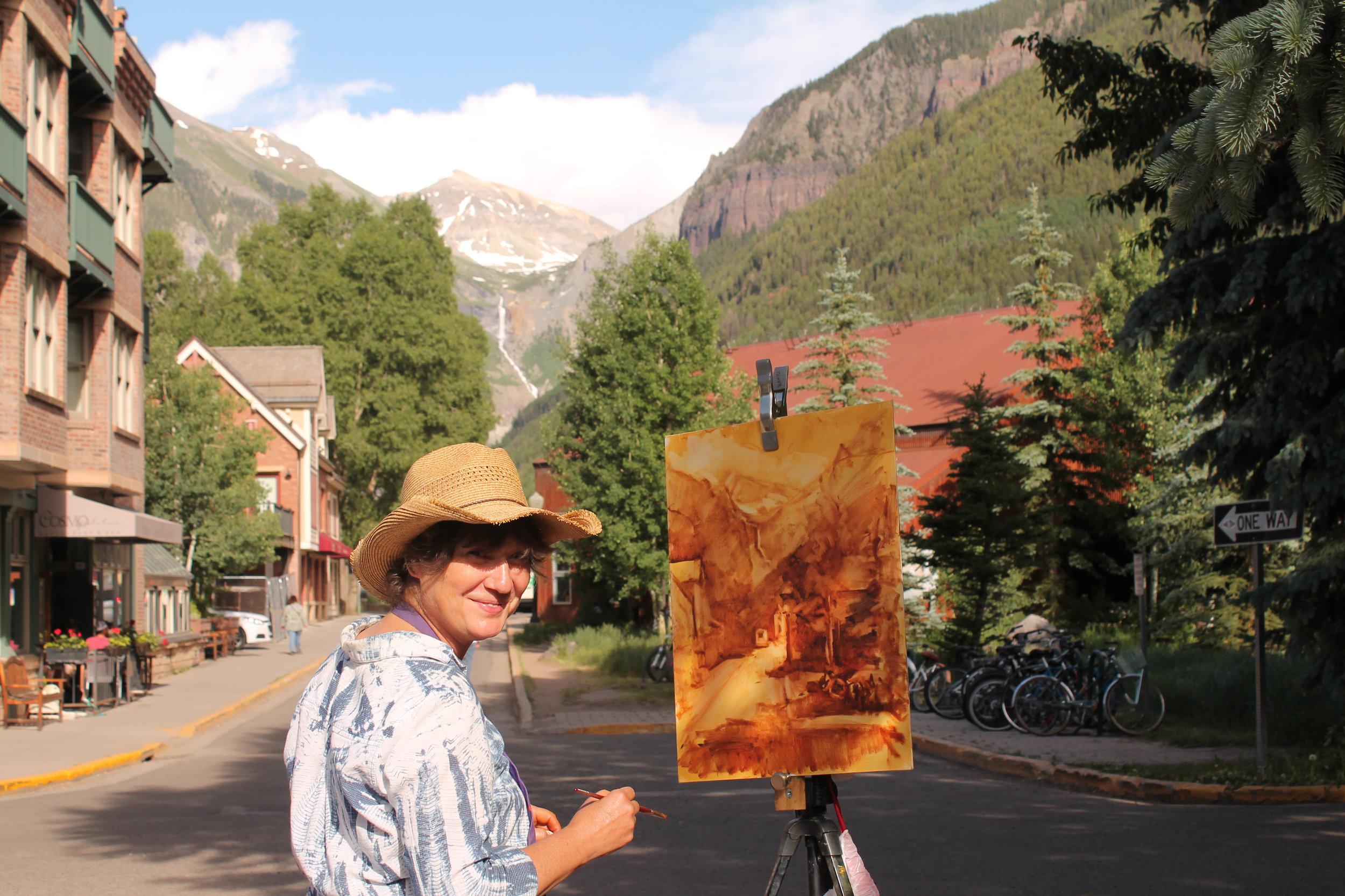 Me Painting In Telluride