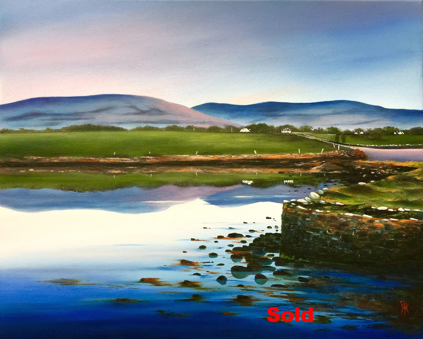'Bishop's Quarter, Ballyvaughan, Co Clare'  Oil on Canvas