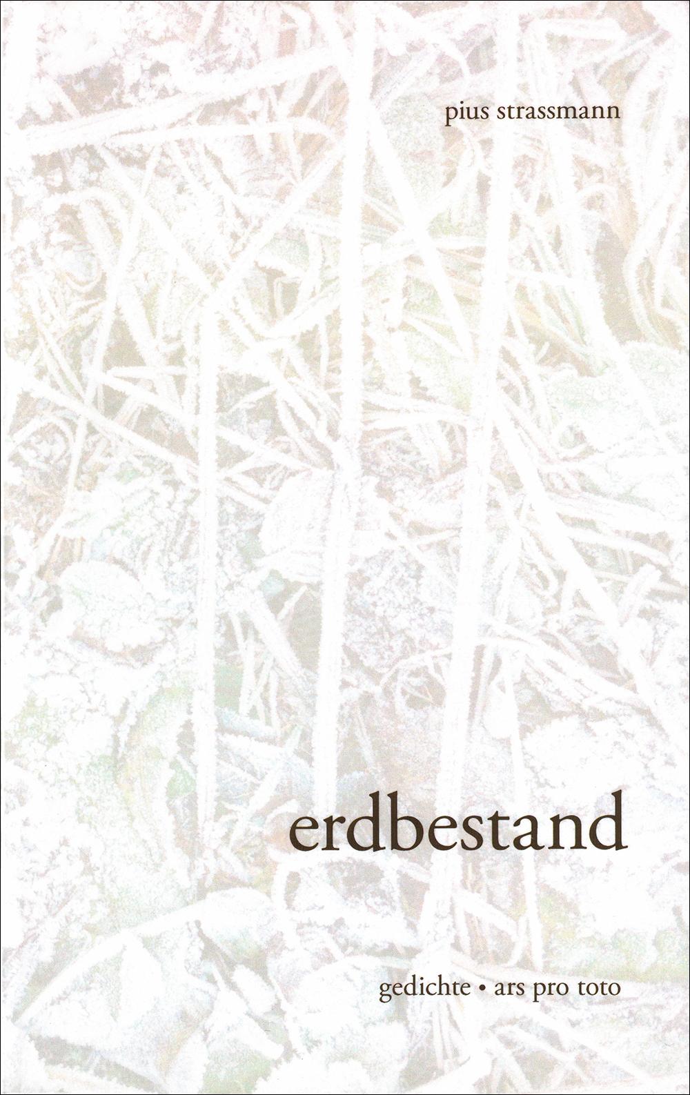 erdbestand gedichte paperback,120 seiten fr. 23.50 oder etwas preisgünstiger  in der hirschmatt-buchhandlung   isbn 978-3-9524115-0-6