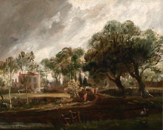 JOHN CONSTABLE, R.A. (1776 – 1837)   Golding Constable's House, East Bergholt, Suffolk