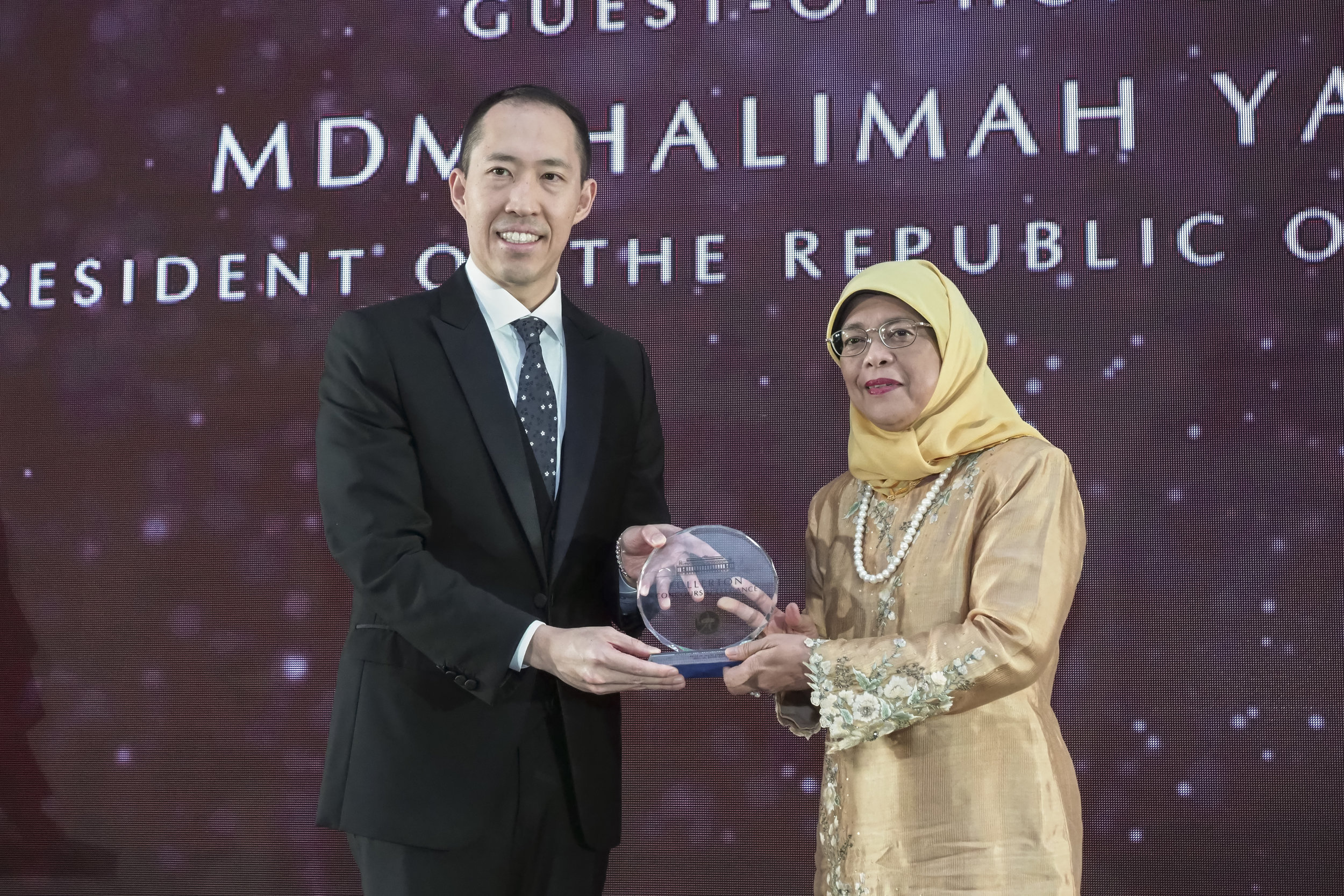 Mr. Daryl Ng & President Halimah Yacob