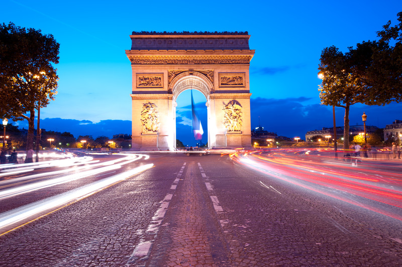 Arc de Triomphe in Paris, honoring those who fought for France.